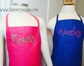 Kids Monogrammed Apron - Kid's Apron with Name, children's apron with name, kids apron, kids monogram apron, childrens monogrammed apron