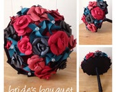 Rose Elegance: Paper Rose bouquet with Pinwheel Accents