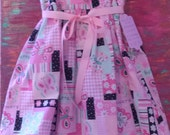 Summer Twirl Dress with Butterflies Size Four Ready to Ship