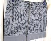 GREY MINI SKIRT - Sweater Skirt - Short Skirt - Womens Skirt - Recycled Clothing - Upcycled Clothing - Boho Skirt - Grey Skirt