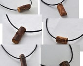 wood necklace  •   wood pendant  •  wooden necklace