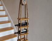 Vintage Pulley Hanging Wine Rack