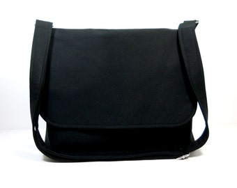 Custom Reserved Listing for CB - Black and Lavender Messenger Bag