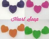 Valentines Heart Shaped Soap