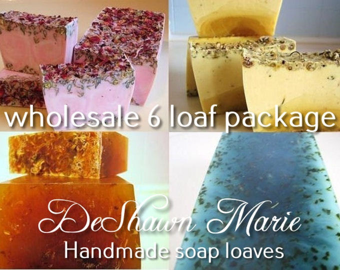 SOAP - 6 assorted 3LB Handmade Glycerin Soap Loaves, Wholesale Soap Loaves, Vegan Soap, Soap Gifts, Wedding Favors