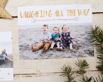 Laughing All the Way - Digital Printable Holiday Card