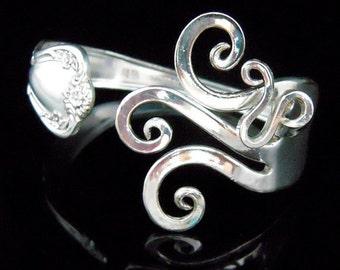 Silver Fork Bracelet, Vintage Jewelry, Vintage Bracelet, Recycled Bracelet, Eco Friendly Jewelry, Original Fancy Design Number Seven