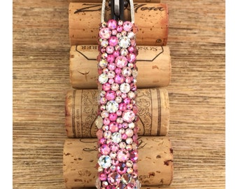 "Swarovski Crystal Encrusted Wine-""Oh!"" Wine Opener, Pretty in Pink"