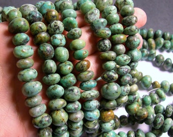 African turquoise - Nugget - bead - full strand - 12mm -  african turquoise gemstone - PSC207