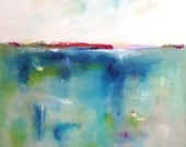 colorful Abstract Seascape Painting - Colorful Calm 30 x 40