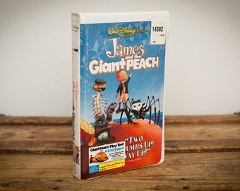 SEALED James & the Giant Peach VHS, Walt Disney, Tim Burton, Vintage 90s