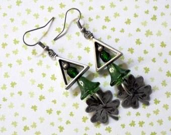 St Patrick's Day Shamrock Earrings (2503)