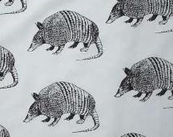 Armadillo Fabric by Hot Diggity Dog Fabrics 1 yd