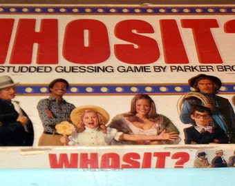 Vintage Complete 1976 Parker Bros Game WHOSIT?  The Star Studded Guessing Game