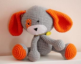 Handmade crochet puppy toy