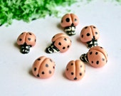 Edible Sugar Lady Bugs  - Lady Birds, realistic candy, cake and confection embellishments