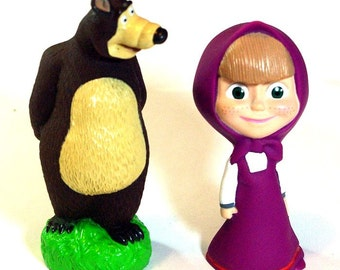 Masha and the Bear - Russian folk dolls. In Like New condition.