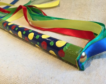 Wizard Wand Play Pretend Wave ribbons Have Fun Using your Imagination