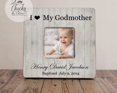 Godparent Gift, Personalized Christening Picture Frame, Godmother Picture Frame, Christening Gift Idea, I Love My Godmother