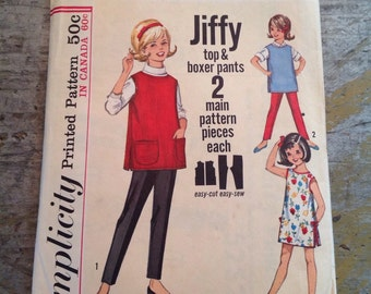 Vintage Simplicity Sewing Pattern 5252 Child's Size 4 Top Pants