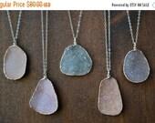50% OFF Druzy Power Necklaces /// Electroformed Gemstone /// Silver