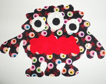 Large Iron On Applique Patch...EYEBALL MONSTER ...Great For A Halloween Shirt