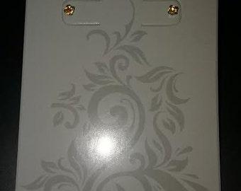 Orange 3mm gemstone earrings