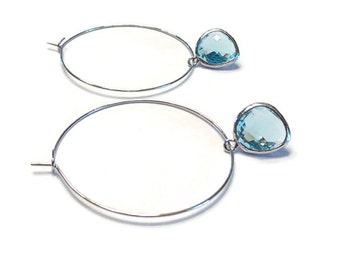 Hoop earrings Hoops Hoop earrings silver Silver hoop earrinsg Large hoop earrings Bridesmaid earrings Bridesmaid Gift Hoop earings