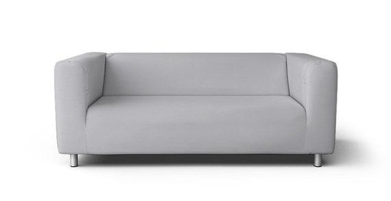 Ikea Klippan 2 Seater Sofa Slipcover Only In Gaia Fog Fabric