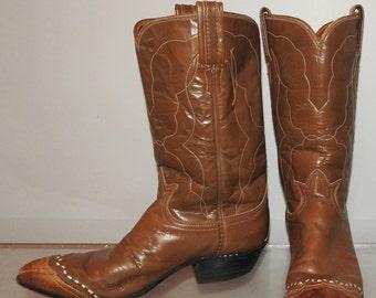size 7.5 vintage cowboy boots vtg 60s Tony Lama