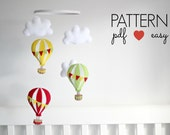 Hot Air Balloon Sewing Pattern - Baby Mobile Pattern - Garland Sewing Pattern - DIY Baby Mobile - Air Balloon Nursery Decor