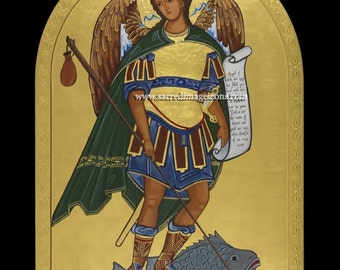 Saint Raphael  Ready to Frame Print, Catholic Art, 8x10, 11x14,16x20,20x30