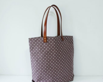 Tote bag with Genuine Leather strap