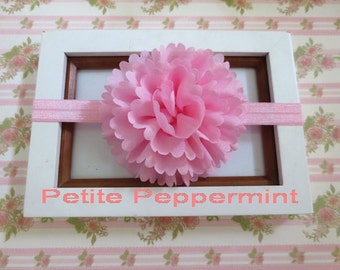 Pink Baby Headband,Pink Baby Flower Headband,Infant Headband,Pink baby hair bow, baby head band,toddler headband, girl headband