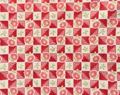 Bliss Bonnie & Camille moda fabric block flower red FQ or more
