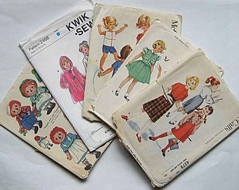 Sewing Ephemera Lot #4, Vintage Pattern Envelopes, Sewing Pattern Pieces Tissue for Crafts, Collage, Decoupage