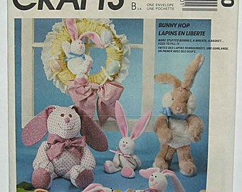 Easter Bunny Doll Package McCall's 3500 Craft Pattern Egg, Basket Decorations, Wreath, Spring, Rabbits