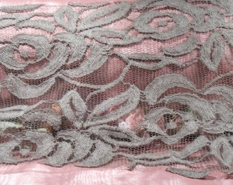 Vintage Lace Trim 1930s Lace Grey Lace Craft Supply Net Lace