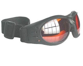 CLOSE OUT SPECIAL - Red Lens Comfy Cushioned Cyber Rave Playa Safe Riding Goggles-Burning Man
