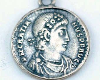 Sterling Silver Coin Charm (A18)