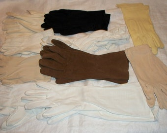 Vintage Amazing and Awesome Lot of 10 Sets of Women's Gloves