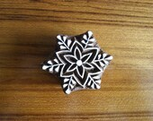 floral motif,printing block,scrapbook stamp,antique printing stamp,wood carved stamp,floral stamp,floral block,floral print block-blk011