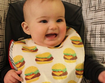 Hamburger Flannel / Terry Cloth Bib
