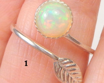 SALE, Welo Opal, Adjustable, Sterling Silver Ring, Ethiopian, Semi-transparent, Pastel Color Play, Lavender, Green, Pink,Yellow,Orange, OOAK