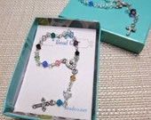 Rosary Rosarette Birthstone or Crystal Colors