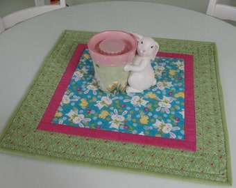 Quilted Easter Bunny Spring Table Topper