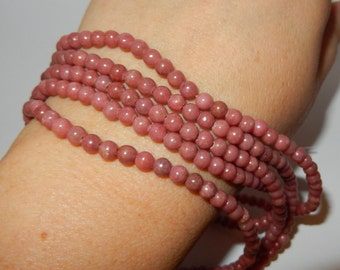 Rhodonite Beads 4mm round strand 15""