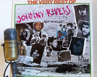 "ON SALE Johnny Rivers Vinyl Records Album 1960s Pop Blue-Eyed Soul Easy Listening 1970s Rock ""The Very Best Of"" (1976 Liberty w/""Secret Agen"