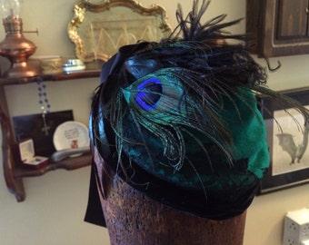 Absinthe Peacock perch hat