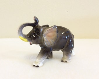 Vintage Elephant Figurine Mid Century Japan African Wildlife Collectible